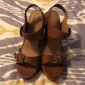 Mossimo Cognac Wedge Sandals